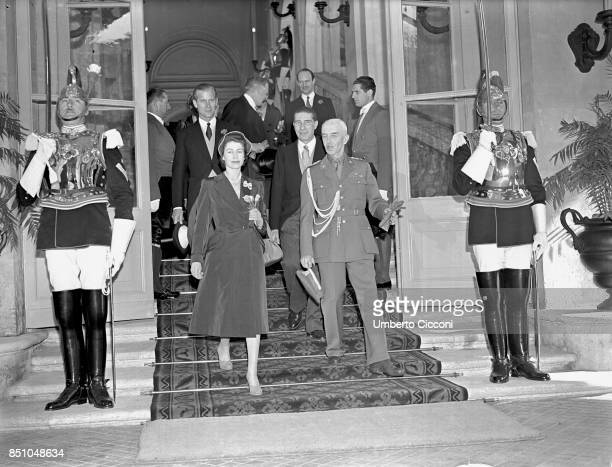 Rome Italy 1951 Elizabeth Princess of England visit the Quirinal in Rome on the eye of her accession to the throne of Queen of the UK