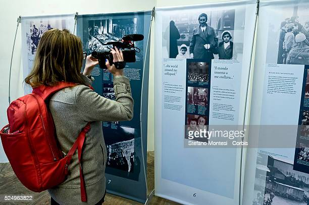 Rome Italy 27January 2016 Opening of the exhibition Anne Frank a history for today ' conceived and designed by the Anne Frank House in Amsterdam the...