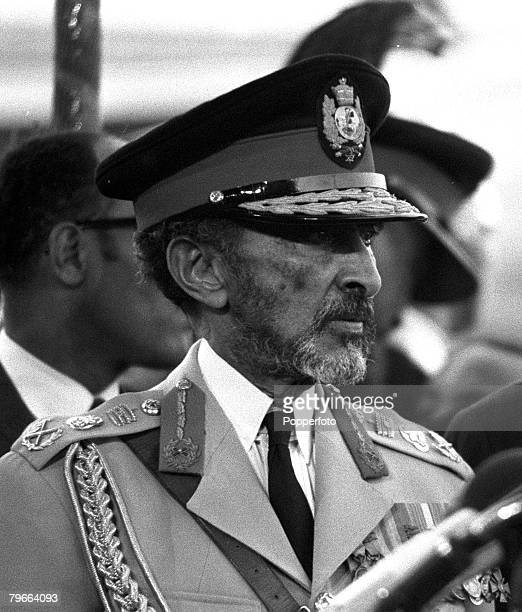 Rome Italy 6th November 1970 Emperor Haile Selassie of Ethiopia is pictured upon arrival for an official visit
