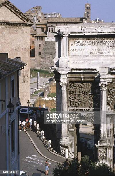 Rome Italy and the Arch of Septimus Severus