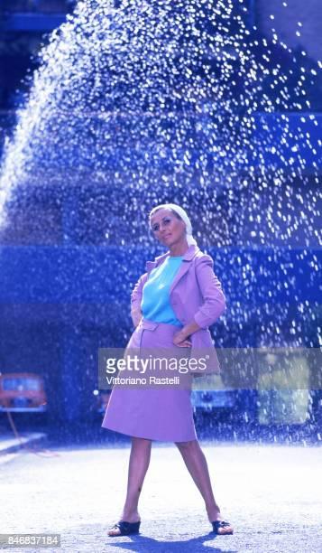 Rome Italy August 1966 Italian actress Sandra Mondaini