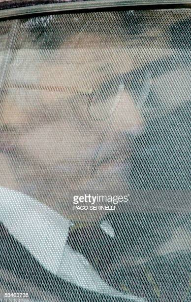 Bank of Italy Governor Antonio Fazio leaves in a car at the end of the meeting with Italian Ministers Claudio Scaiola Giovanni Alemanno Roberto...