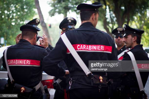 Rome, Italy: Carabinieri Officers Chatting