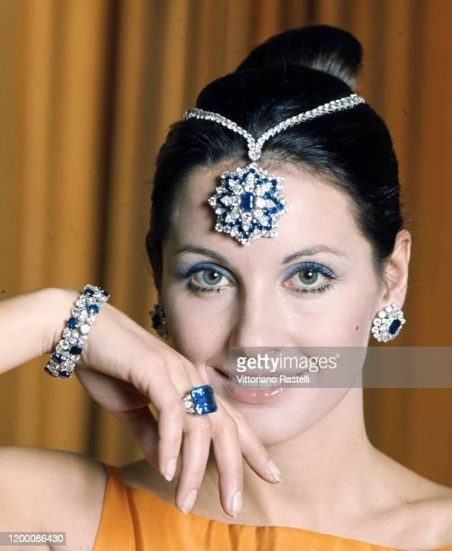 Gabriella Farinon with Harry Winston jewelry