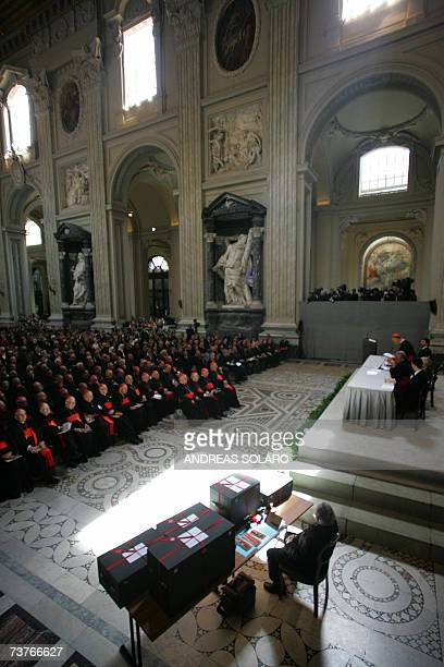 General view of the solemn ceremony concluding the first phase of John Paul II's beatification process 02 April 2007 in San Giovanni basilica in...