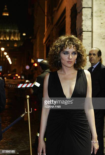 Italian actress Valeria Golino arrives at the SCecilia Auditorium near St Peter for the David di Donatello Italian film awards Rome 21 April 2006 AFP...