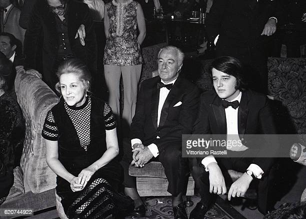 Rome Italy Italian movie director Vittorio de Sica with his wife Maria Mercader and their son Christian during a party in Rome December 14 1969