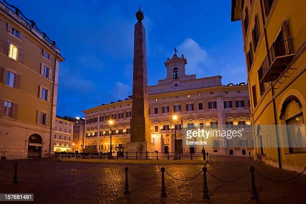 roma, italia, italiano, il parlamento, il palazzo montecitorio - parlamento foto e immagini stock