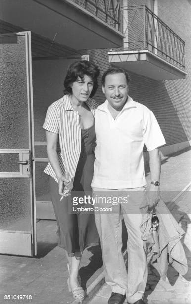 Rome Italy January 7 Italian actress Anna Magnani and Tennessee Williams the American playwright author of 'The Rose Tattoo' She won the Academy...