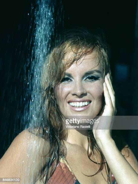 Rome Italy July 1966 The Italian actress Antonella Lualdi