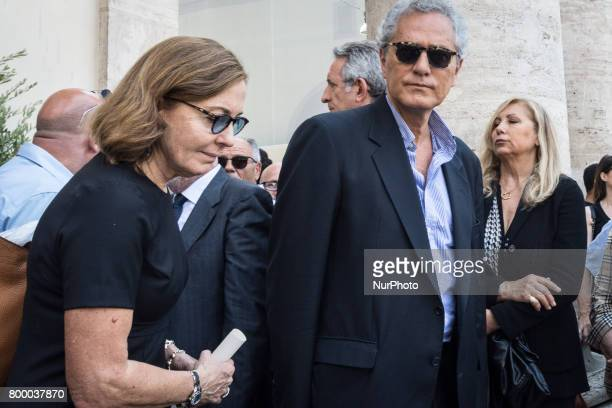 Rome Italy June 22 Rutelli Francesco and Barbara Palombelli attends during The Carla Fendi Funeral At Chiesa degli Artisti on June 222017 in Rome