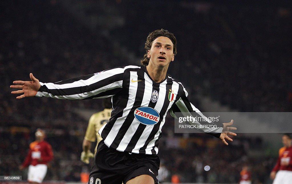 Juventus Swedish forward Zlatan Ibrahimo : News Photo