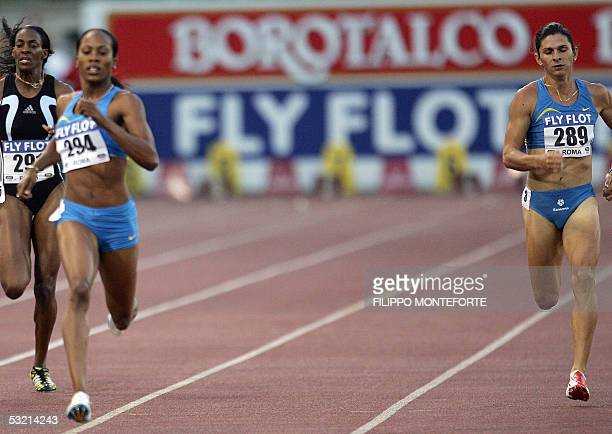 Mexcan Ana Guevara runs the 400 meters behind winner US Sanya Richards and Dee Dee Trotter during the Athletics Golden Gala in Rome Olympic Stadium...
