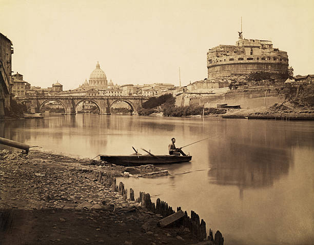 Fisherman on the Tiber River