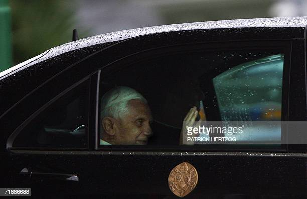 Pope Benedict XVI arrives at Rome Ciampino Airport 14 September 2006 after a sixday visit to his native Germany where he urged Christians to stand up...