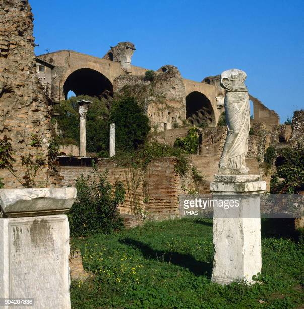 Rome Italy Roman Forum House of the Vestals It was rebuilt some times during the Roman Empire The house was the residence of Vestal Virgins They had...