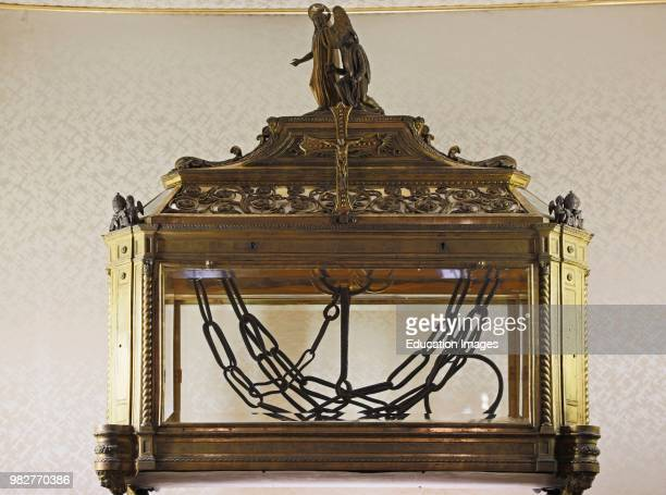 Rome Italy San Pietro in Vincoli church Reliquary containing the chains of St Peter The historical center of Rome is a UNESCO World Heritage Site