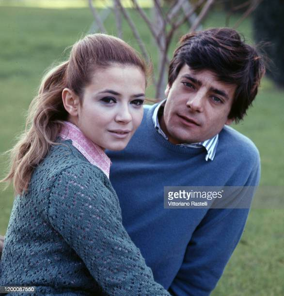 Rome, Italy, September 1966: Italian actors Laura Efrikian and Giancarlo Giannini.
