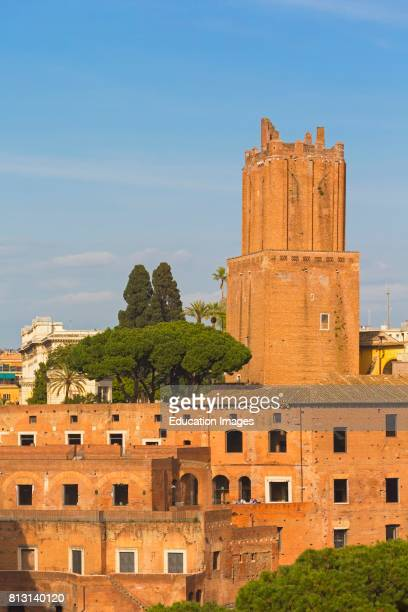 Rome Italy Trajan's Market The 13th century Torre delle Milizie It has leaned slightly ever since an earthquake in the 14th century The Forum is part...