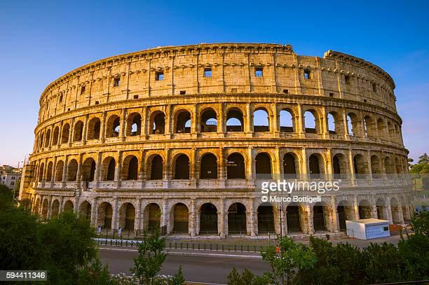 Rome, Lazio, Italy. Colosseum at sunrise.