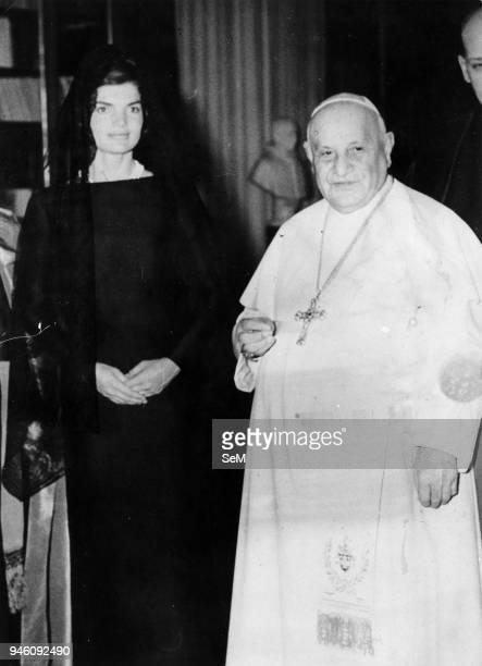 Rome March 11, 1962 Pope John XXIII receives in audience Jacqueline Kennedy. Pope John XXIII, Ioannes XXIII), born Angelo Giuseppe Roncalli 25...