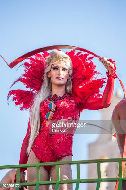 rome pride march - transexual stock photos and pictures