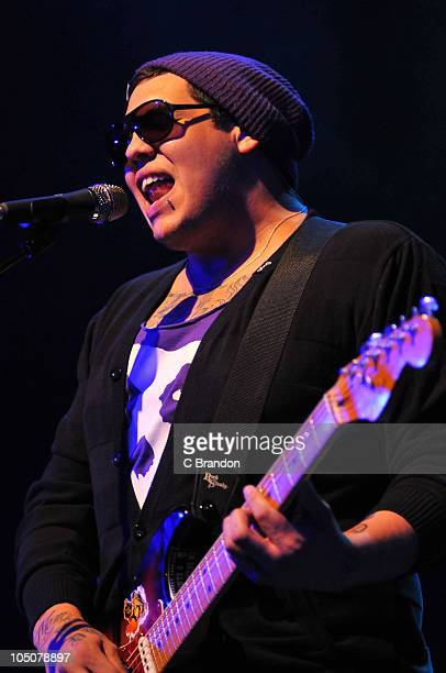Rome Ramirez of Sublime With Rome performs on stage at Shepherds Bush Empire on October 8 2010 in London England