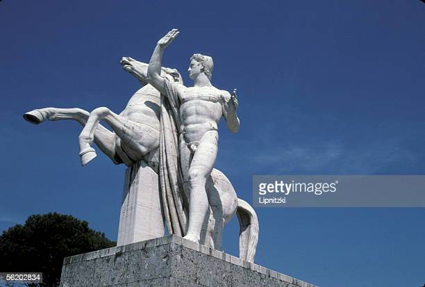 Rome Sculpted group of EUR district 1938