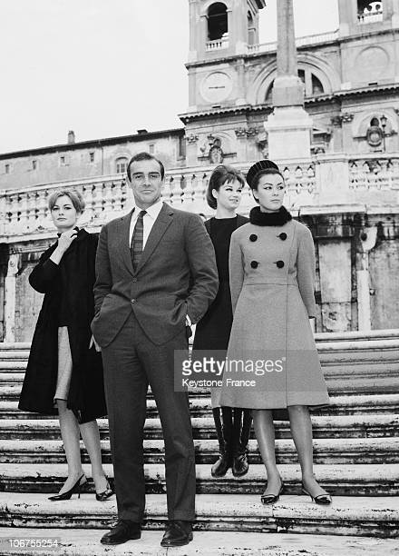 Rome Sean Connery In Italy For The Launching Of His Last Film Agent 007 1963