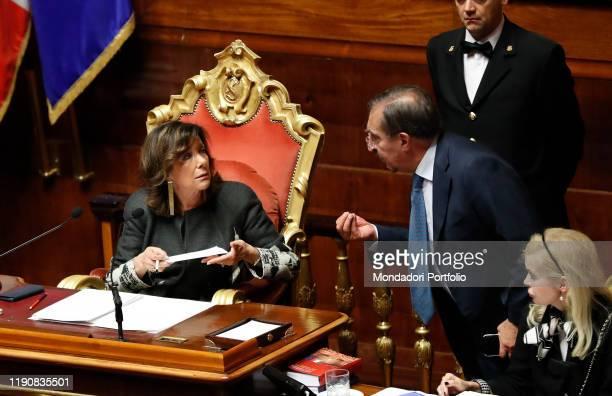 Rome Senate Of the Republic Explanations of vote Security and Immigration decree In the picture Maria Elisabetta Alberti Casellati Ignazio La Russa...