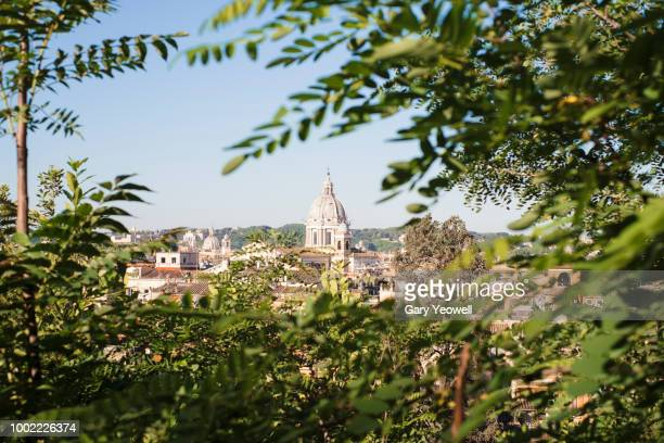 rome skyline at sunset - yeowell stock pictures, royalty-free photos & images