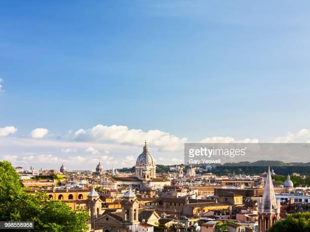 Rome skyline at sunset