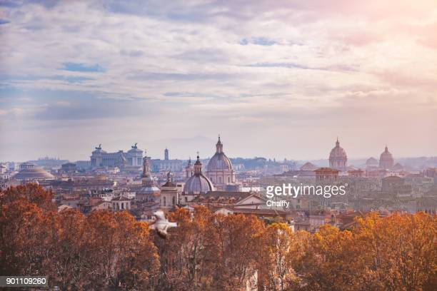 rome skyline - roma stock photos and pictures