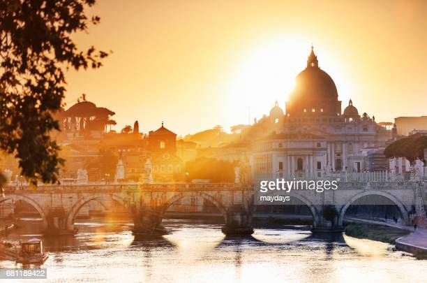 rome, st peter basilica - rome italy stock pictures, royalty-free photos & images