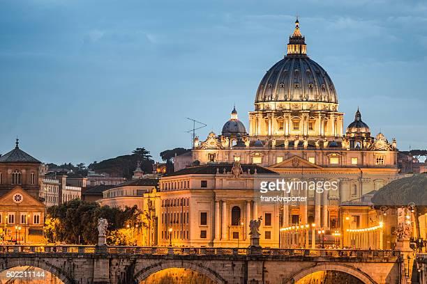 Rome st peter church skyline