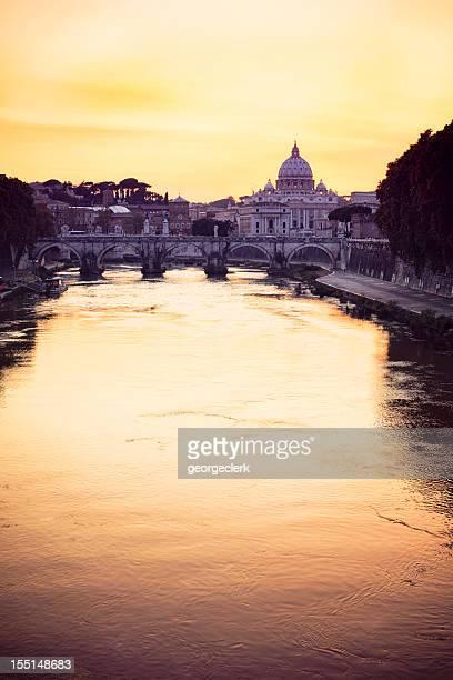Rome: Sunset over the Tiber