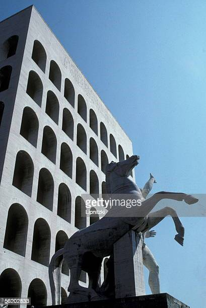 Rome The palace of Work Civilization in the modern district of EUR