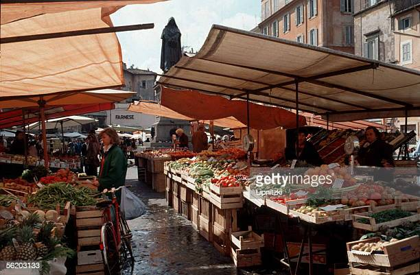 Rome The vegetable market on the Campo dei Fiori 1991