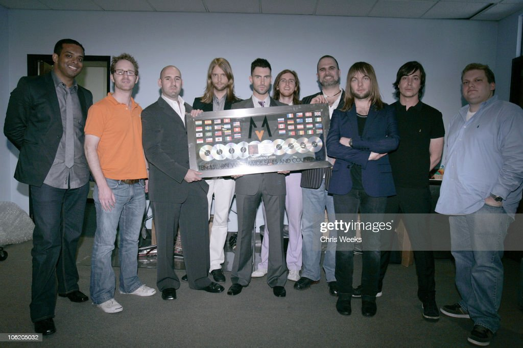 Maroon 5 - 10 Million Records Sold Plaque Presentation : News Photo