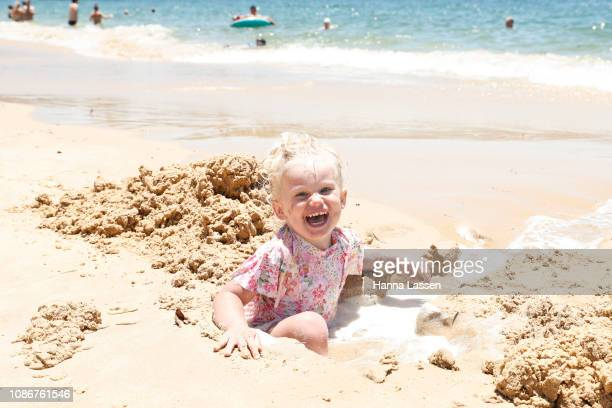 Rome Van Spanje enjoys warm weather at Balmoral Beach on December 26 2018 in Sydney Australia Sydney residents are enjoying a hot Christmas break...