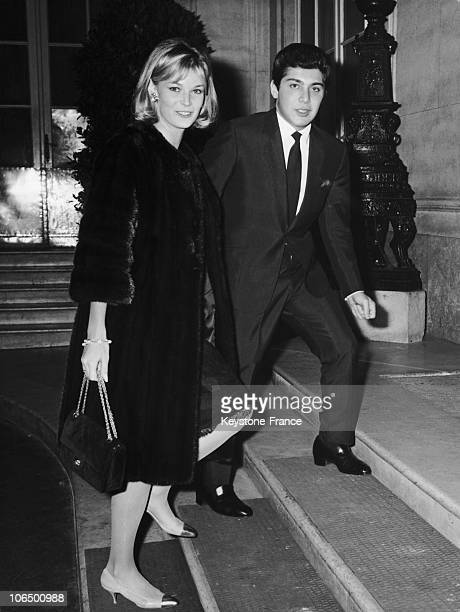 Rome Via Veneto Paul Anka Singer And His Wife Anne De Zogheb October 1963