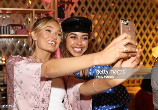 Romee Strijd and Annabelle Fleur attend Victoria's Secret Ultimate Girls Night In with Angels Josephine Skriver and Romee Strijd at Peninsula Hotel...