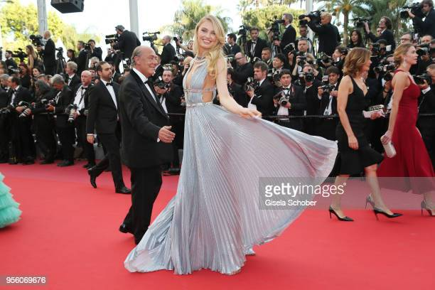 Romee Strijd and Fawaz Gruosi attend the screening of Everybody Knows and the opening gala during the 71st annual Cannes Film Festival at Palais des...