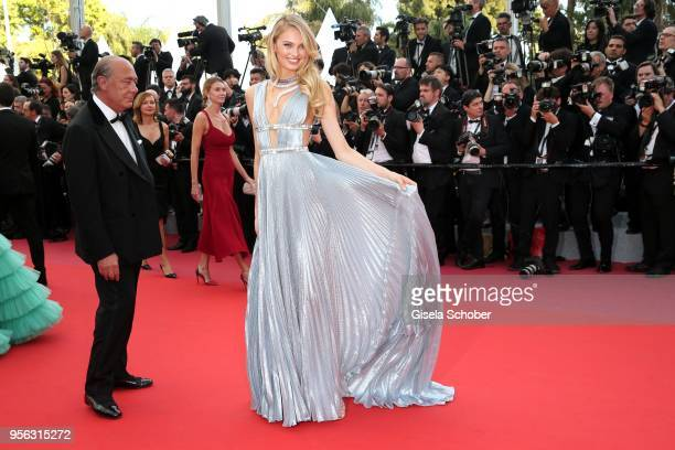 Romee Strijd and Fawaz Gruosi DeGrisogono attend the screening of Everybody Knows and the opening gala during the 71st annual Cannes Film Festival at...