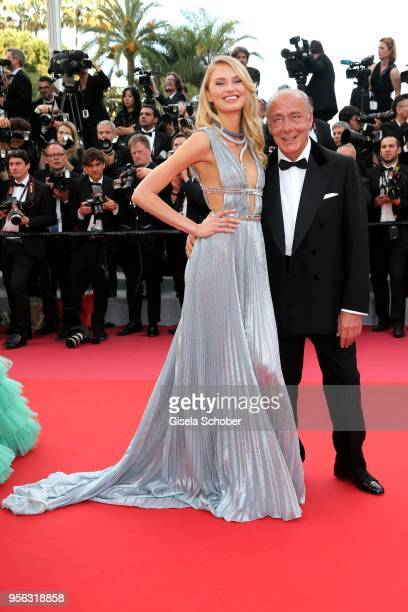 Romee Strijd and Fawaz Gruosi DeGrisogono attend the screening of 'Everybody Knows ' and the opening gala during the 71st annual Cannes Film Festival...