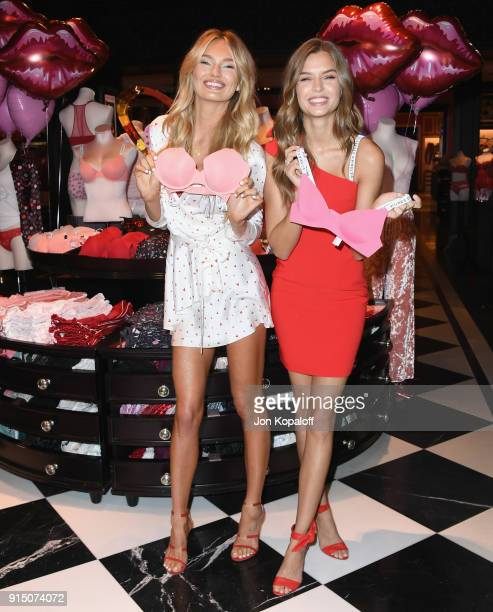 Romee Strijd and Josephine Skriver attend Victoria's Secret Angels Josephine Skriver And Romee Strijd Share The New Dream Angels And Very Sexy...