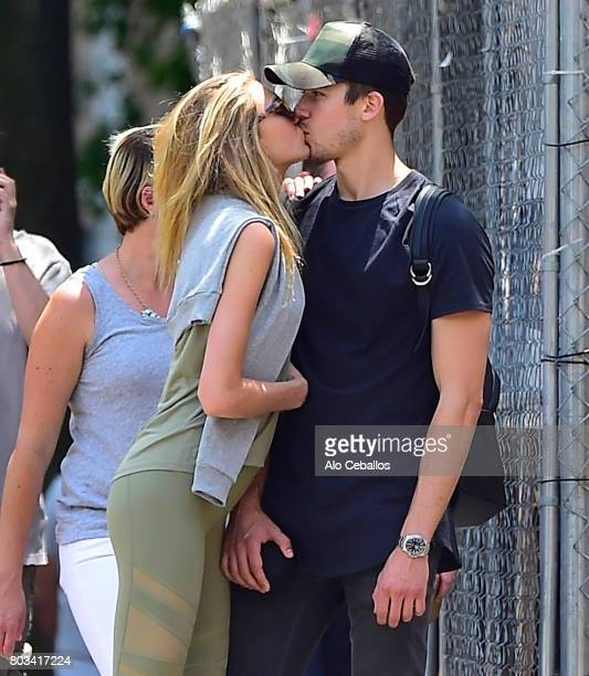 Romee Strijd and Laurens van Leeuwen are seen in Soho on June 29 2017 in New York City