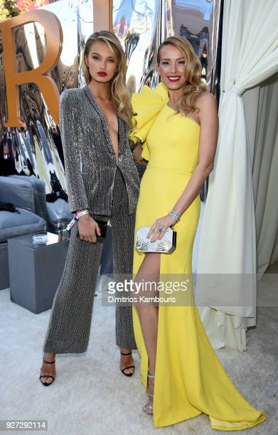 Romee Strijd and Petra Nemcova attends the 26th annual Elton John AIDS Foundation Academy Awards Viewing Party sponsored by Bulgari, celebrating EJAF...