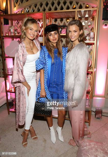 Romee Strijd Annabelle Fleur and Josephine Skriver attend Victoria's Secret Ultimate Girls Night In with Angels Josephine Skriver and Romee Strijd at...