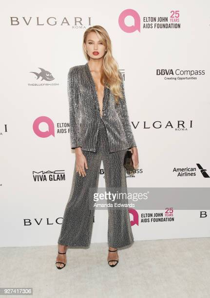 Romee Strijd arrives at the 26th Annual Elton John AIDS Foundation's Academy Awards Viewing Party on March 4 2018 in West Hollywood California